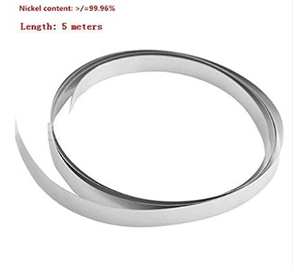 Kamas 5m Long 18650 Lithium Battery Pure Nickel Strip Nickel Plate for Battery spot Welder Welding Diameter: 0.2 x 8mm