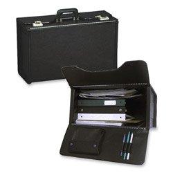 (STEBCO 251322BLK Tufide Catalog Case, Vinyl, 22-1/4 x 8-3/4 x 13-1/2 Inches, Black)