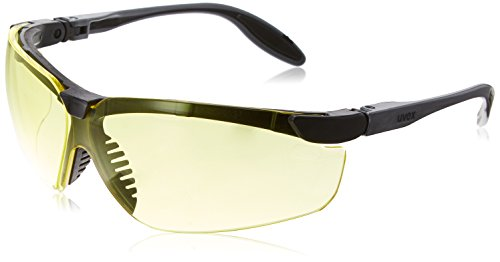 Amber Genesis Lens Uvex (Uvex S3702X Genesis Slim Safety Eyewear, Pewter and Black Frame, Amber UV Extreme Anti-Fog Lens)