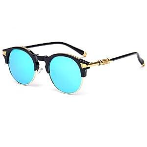 Konalla Sunglasses Half Frame Oval Coating Mirror Eyewear UV Protection UV400 C2
