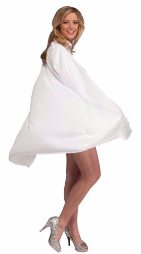 Forum Novelties 45-Inch White Cape, White, One (White Cape Costume)
