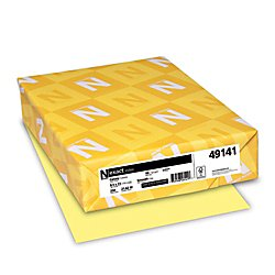 Neenah Exact Index, 90 lb, 8.5 x 11 Inches, 250 Sheets, Canary