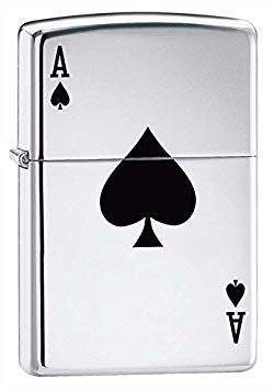 - Zippo Pipe Lighter: Lucky Ace - High Polish Chrome 24011PL