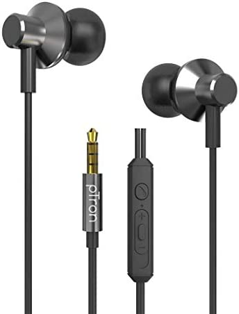 pTron Pride Lite HBE (High Bass Earphones) in-Ear Wired Headphones with in-line Mic, 10mm Powerful Driver for Stereo Audio, Noise Cancelling Headset with 1.2m Tangle-Free Cable & 3.5mm Aux – (Gray)