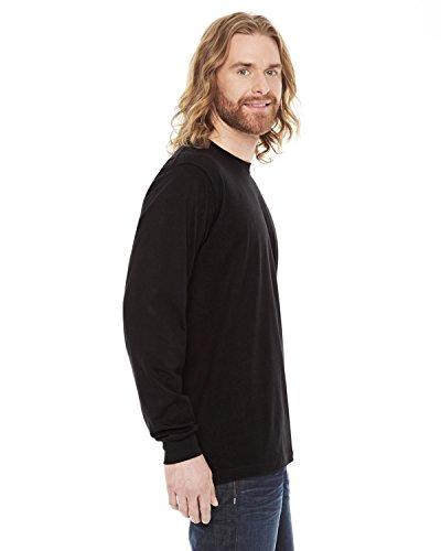 American Apparel Unisex Fine Jersey Long Sleeve T-Shirt - Black / S