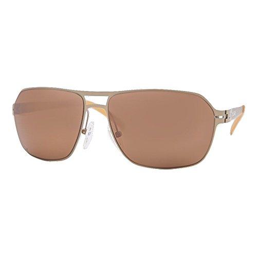 Dcurve Mini Meridian Bio Titanium Polarized Sunglasses  Matte Satin Gold
