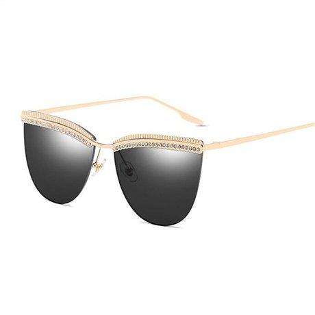 Puente sol Gafas de sol corte Gafas diseñador de Amarillo Black mujer Gafas de de GGSSYY de doble mujer de para moda Marco vintage OwxzEF