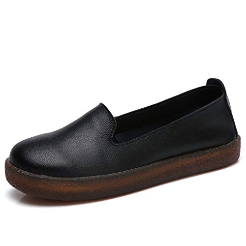 - York Zhu Round Toe Women Flats Shoes Female Fall Ladies Casual Comfortable Soft Shoes