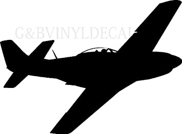 Air Plane Silhouette P 51 Vinyl Wall Decal Sticker Large 20 Tall Wall Decor Stickers