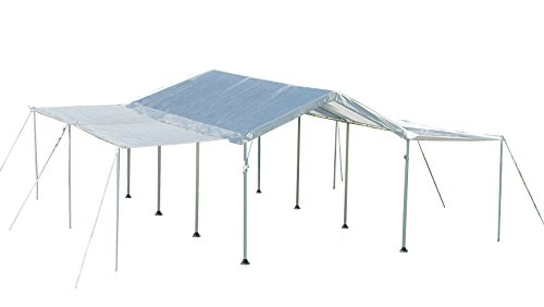 ShelterLogic 10x20 Canopy Extension Kit for 1-3/8'' and 2'' Frame (White), Frame and Canopy Sold Separately by ShelterLogic
