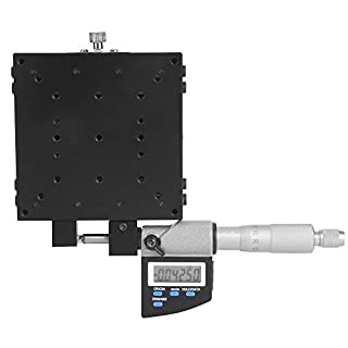 Micrometer Platform, 100x100mm Micrometer Stage, 147N (14.5kgf) Load Capacity, for Optical Laboratory Precision…