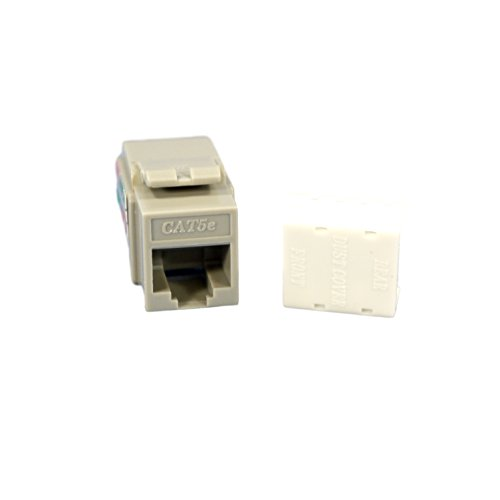 (Cooper 5547-5EGY QuickPort Snap-In Ethernet Connector, Voice Jack Category 3 RJ11 - Gray)