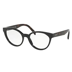 Prada PR01TV Eyeglass Frames 1AB1O1-53 - Black PR01TV-1AB1O1-53