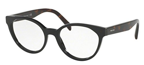 Prada PR01TV Eyeglass Frames 1AB1O1-53 - Black - Womens Frames Prada Glasses