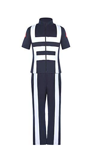 ROLECOS My Hero Academia Cosplay Anime Costume Katsuki Bakugo Gym Uniform Outfit S Navy Blue]()