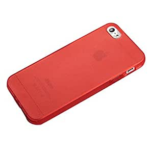 Matting Transparent PC Case for iPhone 5 --- COLOR:Pink