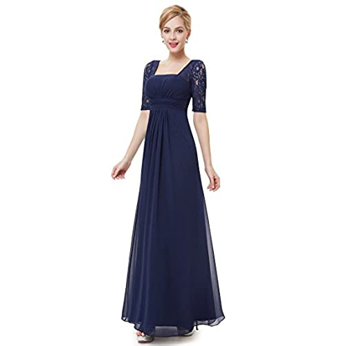 Ever-Pretty Womens Long Formal Wedding Guest Dress 16 US Navy Blue