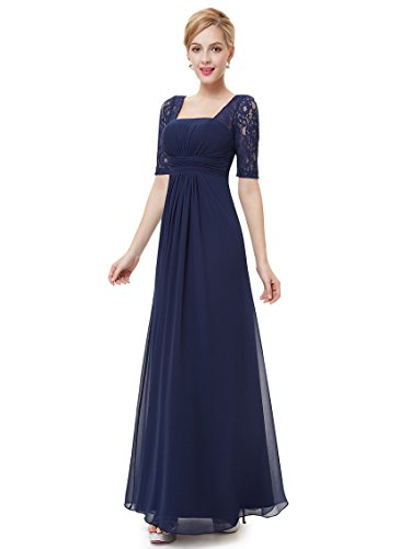 Ever-Pretty Womens Empire Waist Long Formal Evening Gown 10 US Navy Blue (Empire Gown)