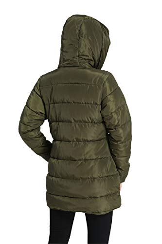 46 Femme T Capuche Avec Hiver Longue Parka Ilovesia Grosse épais Manteau Noir Vert 36 8xwaxnP4qU
