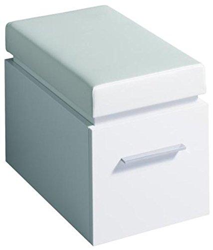 Keramag Hocker Silk 380x450/490x560mm Weiß Hochglanz