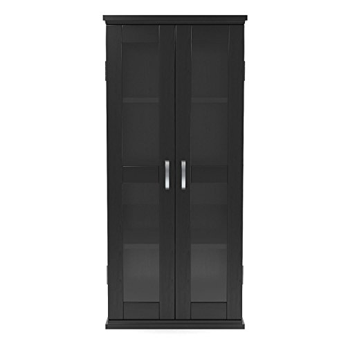Gibson Living Kirkwell 41 Inch Wood DVD Tower in Black by Gibson Living
