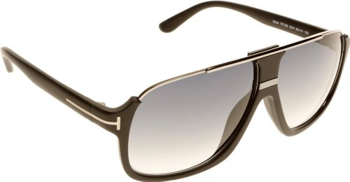 Sunglasses Silver Tom Ford - Tom Ford Tf 335 Eliott Matte Black/Silver Frame/Gray Lens 60Mm