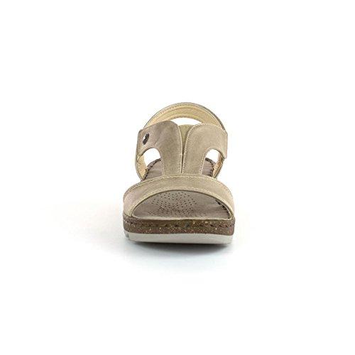 Gluv Womens Gold Slip On Comfort Sandal Multicolour DZQe3eSj3X