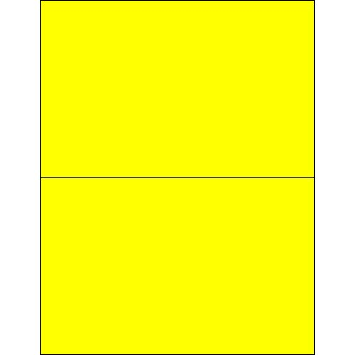 Ship Now Supply SNLL415YE Tape Logic Removable Rectangle Laser Labels 8 1/2 x 5 1/2 Fluorescent Yellow (Pack of 200) (Rectangle Removable Labels)