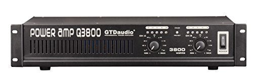GTD Audio 2 Channel 3800 Watts 2U Stereo Professional Power Amplifier AMP by GTD Audio