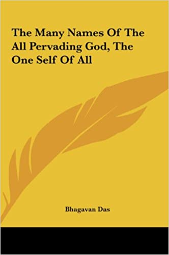 The Many Names Of The All Pervading God, The One Self Of All