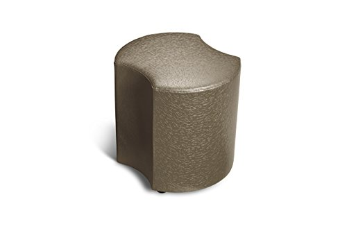 Logic Furniture MOONETP12 Moon 3 Eclipse Ottoman, 12'', Taupe by Logic Furniture
