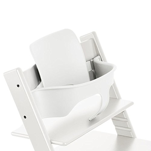 Stokke Tripp Trapp Baby Set, White (Booster Wood Booster Seat)
