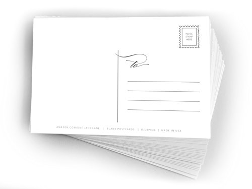 Blank Mailable Postcards - One Jade Lane - Blank Postcards 4x6, Heavy Duty 14pt, Blank Postcards for Printing with Mailing Side for Mailing, (50ct). (Cards Christmas Printing)