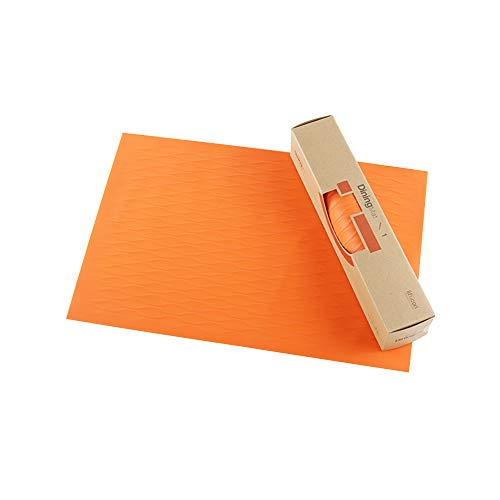 liflicon Silicone Place Mat for Dining Table Reusable Kids Place Mat Hot Pads Pot Holders Spoon Rest Baking Mat Pet Food Mat Non-Slip Trivet Mats Size 17.72''11.81''-Orange ()