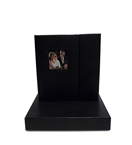 wedding-story-dvd-cd-case-set-of-2-black-pu-leather-overlapping-holds-2-disc-1-photo