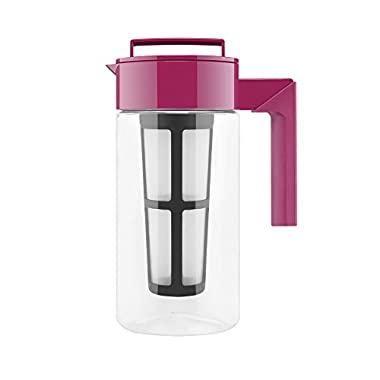 Takeya Flash Chill Iced Tea Maker (1 Quart, Raspberry)