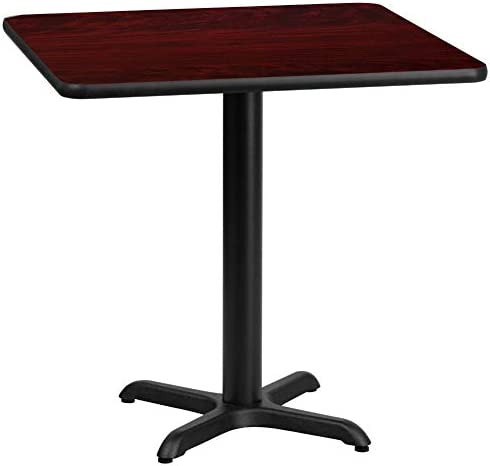 Flash Furniture 30'' Square Mahogany Laminate Table Top