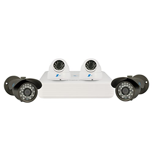 LineMak Kit of 4 cameras, 1/3 SONY CCD Sensor, 700TVL with DVR of 4-channel, H.264/G.711A Compression format, D1 resolution, Pentaplex function, for home security.