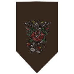 Eagle Rose Rhinestone Bandana Cocoa Small by WSB