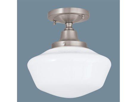 Norwell Lighting 5361F-OB-SO Schoolhouse - One Light Flush Mount, Glass Round, Finish: OB: Oil Rubbed Bronze