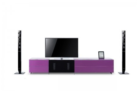 VIG Furniture VGWCSMARTBASE-SMALL Modrest Smartbase - Modern iPhone or iPad Dock Ready Glass Entertainment