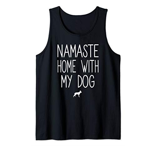 German Shepherd Namaste Home With My Dog Men Women Tank Top