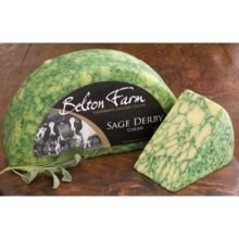 Belton Farm Sage Derby Cheese, 4.4 Pound -- 2 per case. by Anco Fine Foods
