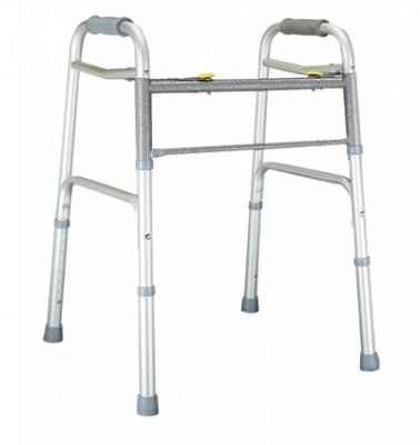 GF Health 604070A Imperial Collection Dual Release X-Wide Folding Walker, Aluminum (Pack of 2) by GF Health