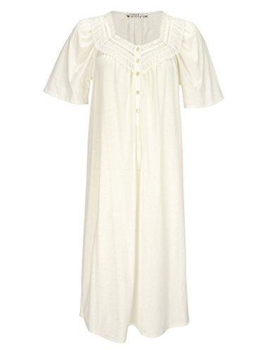 Feraud 3883040-10044 Women's Champagne White Cotton Night Gown Loungewear 12 by Feraud (Image #2)