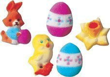 Easter Deluxe Assortment Edible Sugar Decorations for Cakes and Cupcakes/food decorations 12 count by CakeSupplyShop