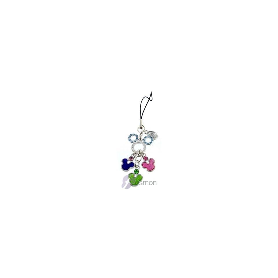 Disney Mickey Minnie Mouse Ears Luxury Blink Diamond handheld & Cell Phone Charm Strap