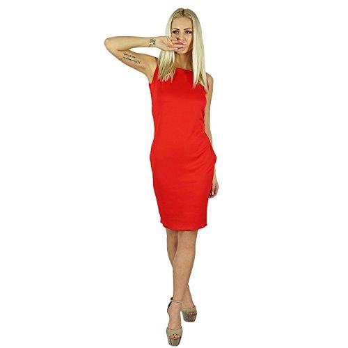 Bimba Frauen figurbetontes Kleid über KnieSleeveless ...