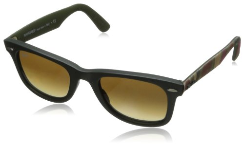 Ray-Ban WAYFARER - MATTE MILITARY GREEN Frame BROWN GRADIENT DARK BROWN Lenses 50mm - Matte Wayfarer Ban Green Ray