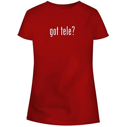 One Legging it Around got Tele? - Women's Soft Junior Cut Adult Tee T-Shirt, Red, Medium